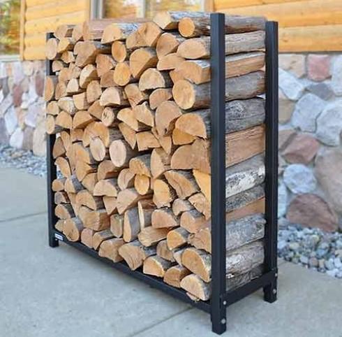 Как сделать подставку для дров в баню