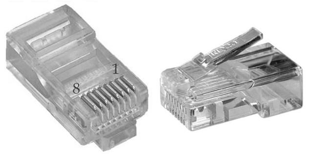 RJ-45 нумерация контактов
